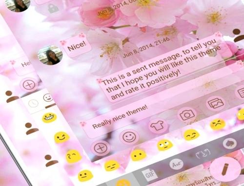 SMS Messages Love Cherry Theme screenshot 4