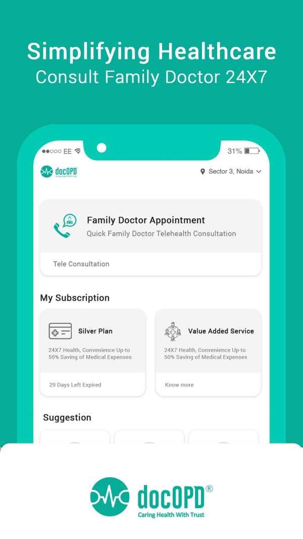 docOPD - Family Doctor Tele Consultation 1 تصوير الشاشة