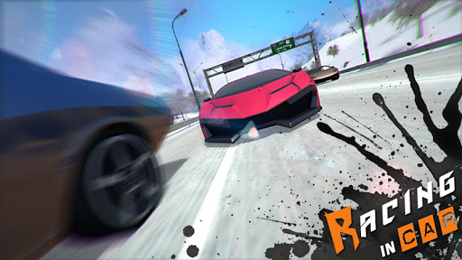 Racing In Car 3D 1 تصوير الشاشة