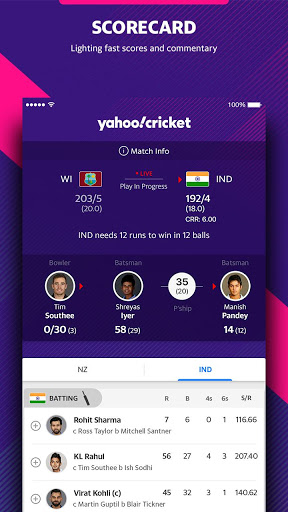Yahoo Cricket App - Live Cricket Scores & News screenshot 7
