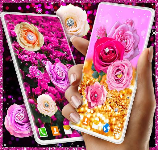 Diamond Rose Live Wallpaper ❤️ Shine HD Wallpapers 3 تصوير الشاشة