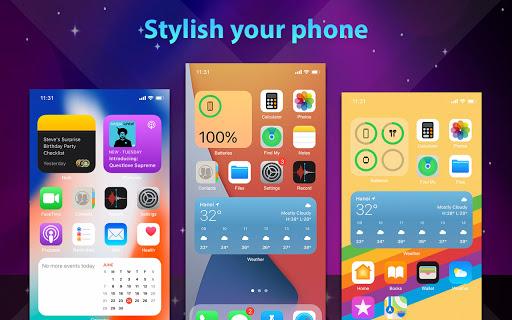 Phone 12 Launcher, OS 14 Launcher, Control Center screenshot 12
