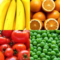 Fruit and Vegetables, Nuts & Berries: Picture-Quiz on 9Apps