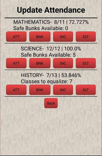 Attendance / Bunk Manager 4 تصوير الشاشة