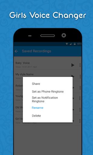 Girls Voice Changer - Edit Pitch & Sounds Updates screenshot 5