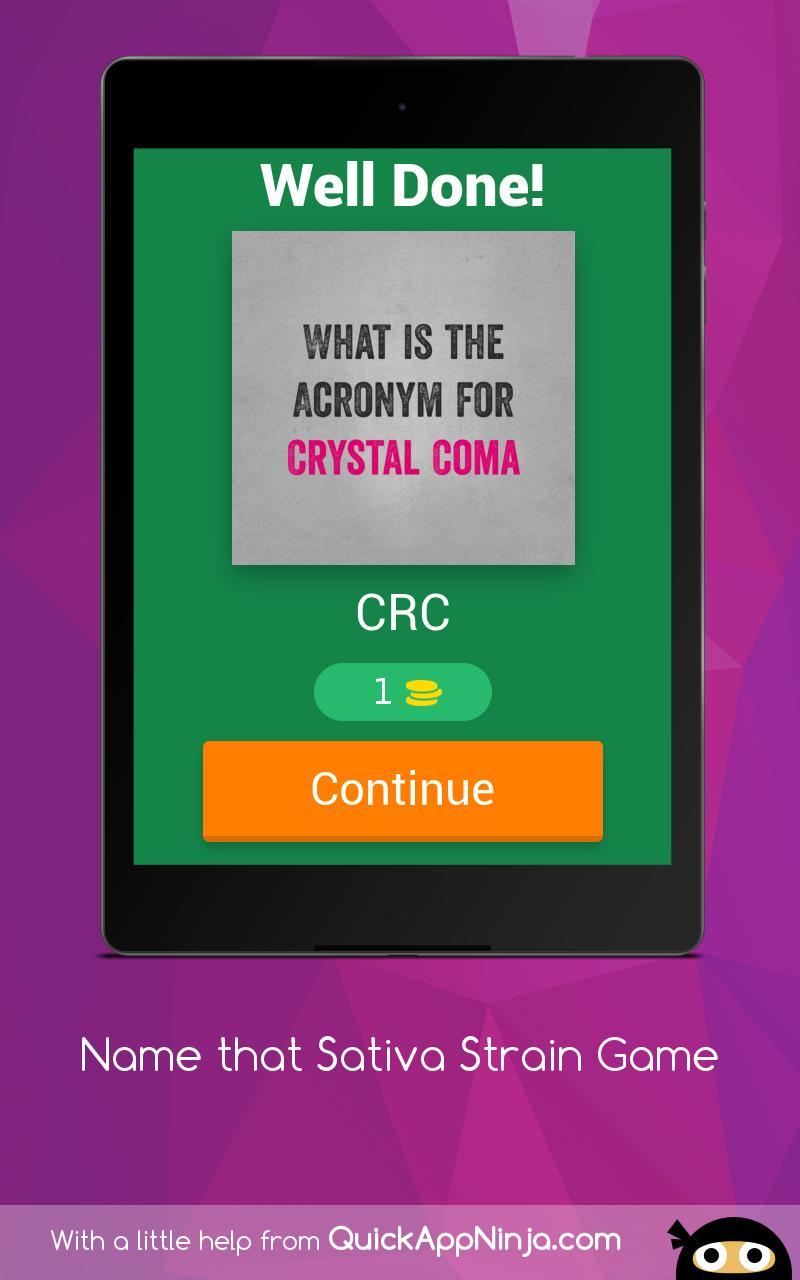 Name that Sativa Strain Game 16 تصوير الشاشة