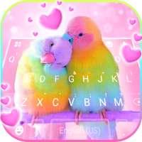 Fond de clavier Love Parrots on APKTom