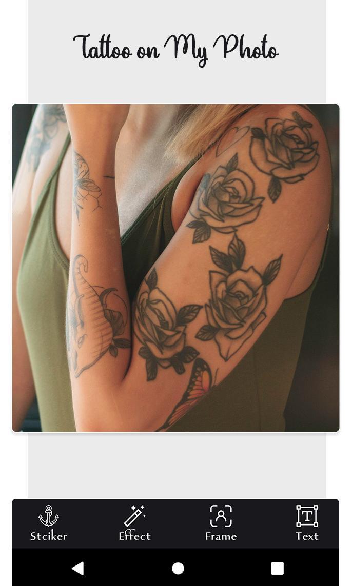 Tattoo my photo: tattoo photo editor screenshot 1