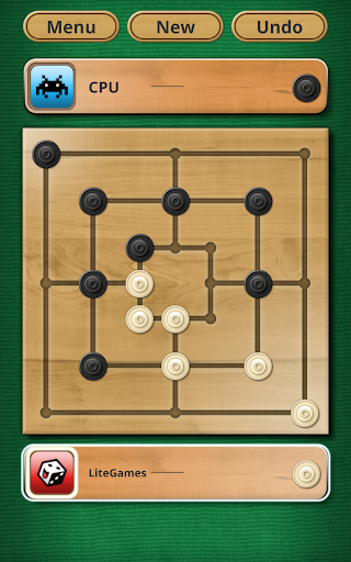 Nine men's Morris - Mills - Free online board game 9 تصوير الشاشة