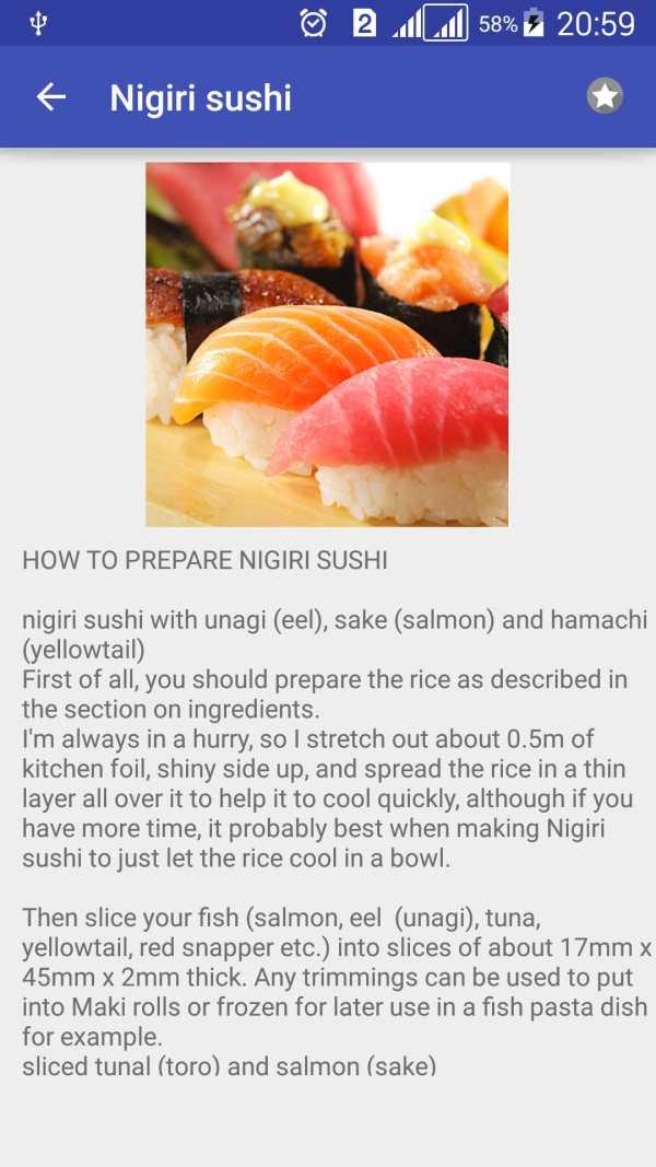 Sushi Rolls Recipes Free скриншот 3