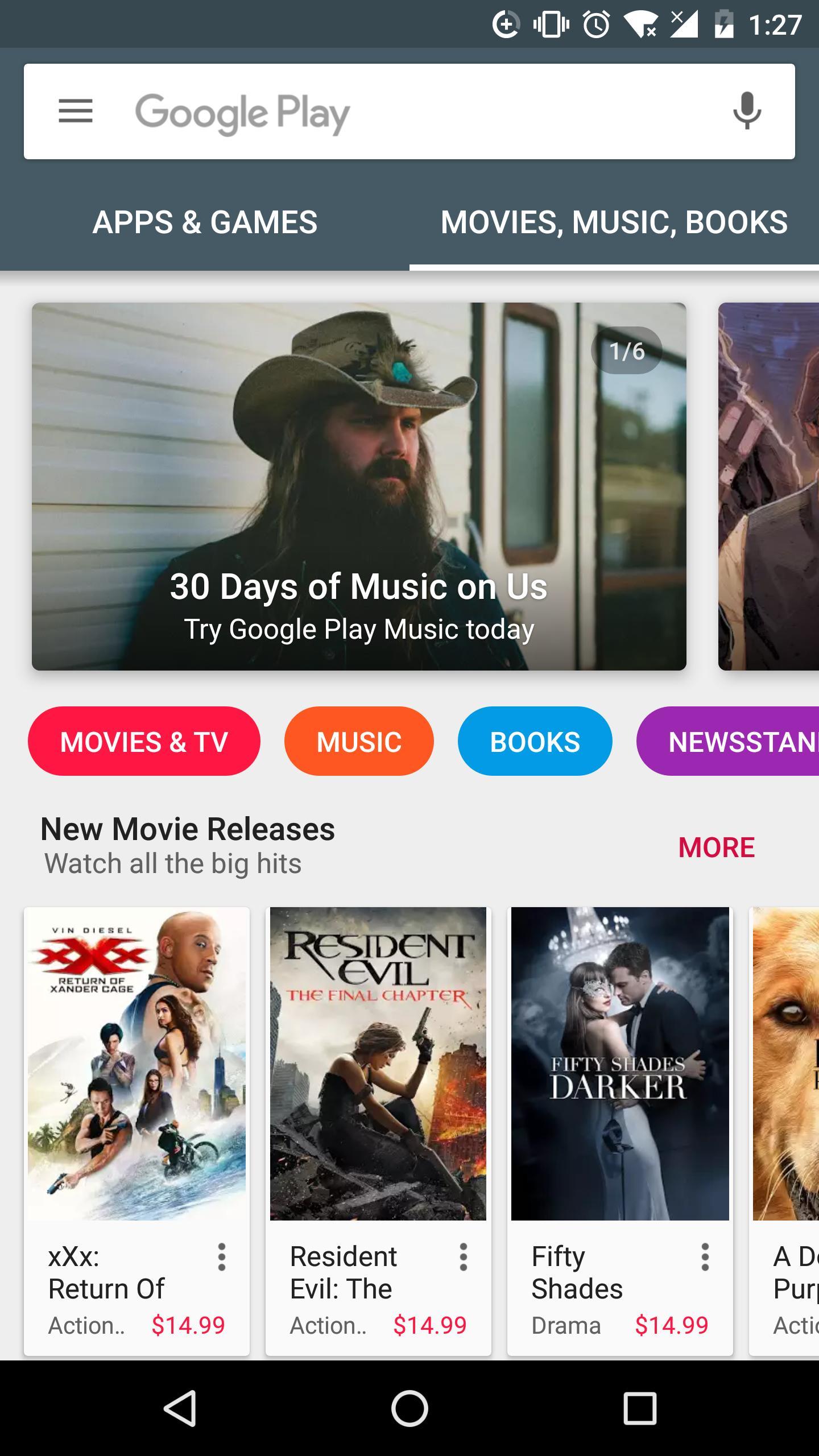 Google Play Store 3 تصوير الشاشة