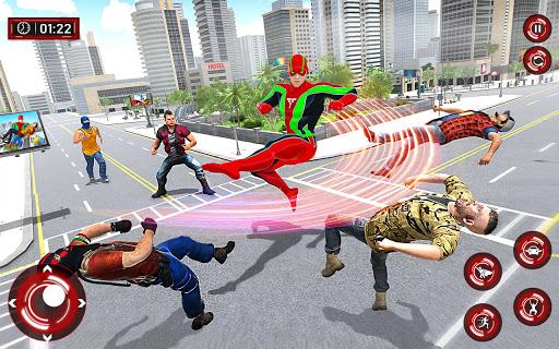 Superhero Light Robot Rescue: Speed Hero Games screenshot 3