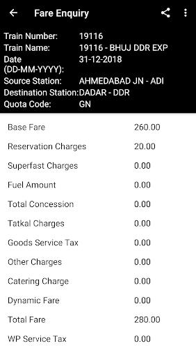 Indian Rail Enquiry (No Ads) screenshot 6