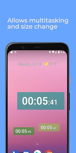 Stopwatch: floating multitasking timer screenshot 1