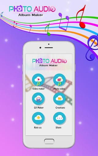 Photo Audio Video Album Creator 1 تصوير الشاشة