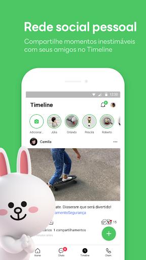 LINE:Chamadas&Mensagens Grátis screenshot 5