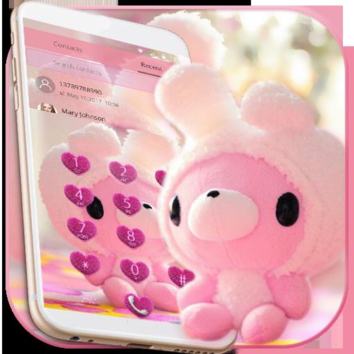 Cute Bear Theme Pink Bow Bear icon