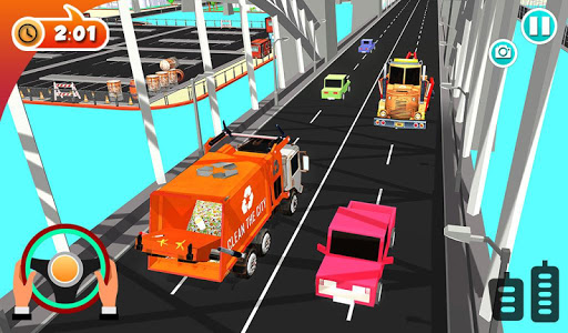 Urban Garbage Truck Driving - Waste Transporter screenshot 10