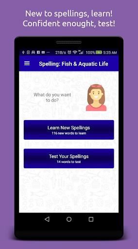 Spelling: Fish & Aquatic Life screenshot 1