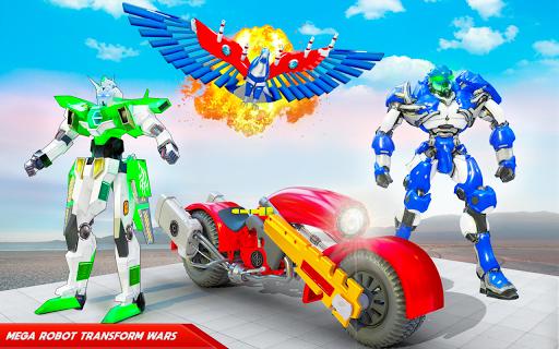 Flying Police Eagle Bike Robot Hero: Robot Games screenshot 9