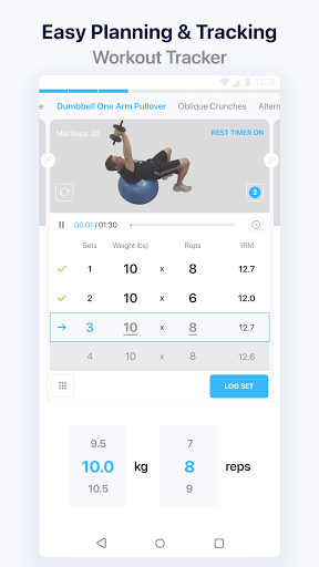 JEFIT Workout Tracker, Weight Lifting, Gym Log App 3 تصوير الشاشة