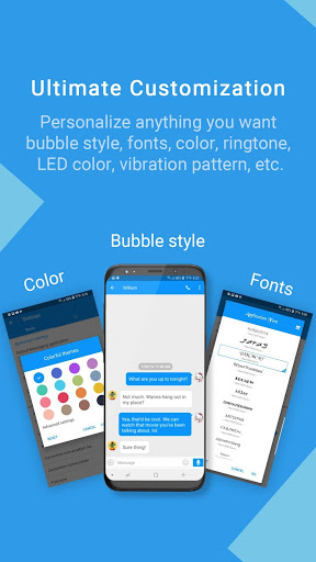 Handcent Next SMS - Best texting w/ MMS & stickers screenshot 1