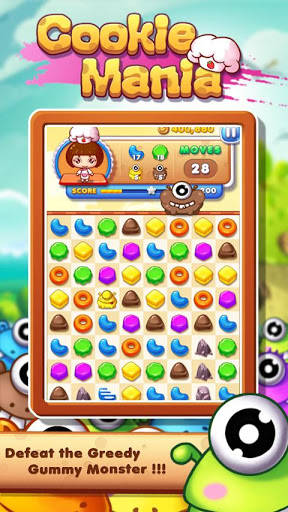 Cookie Mania - Match-3 Sweet Game 2 تصوير الشاشة