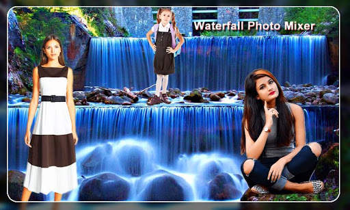 Waterfall Photo Blender : Photo Mixer screenshot 1