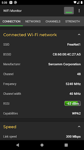WiFi Monitor: analyzer of WiFi networks screenshot 1