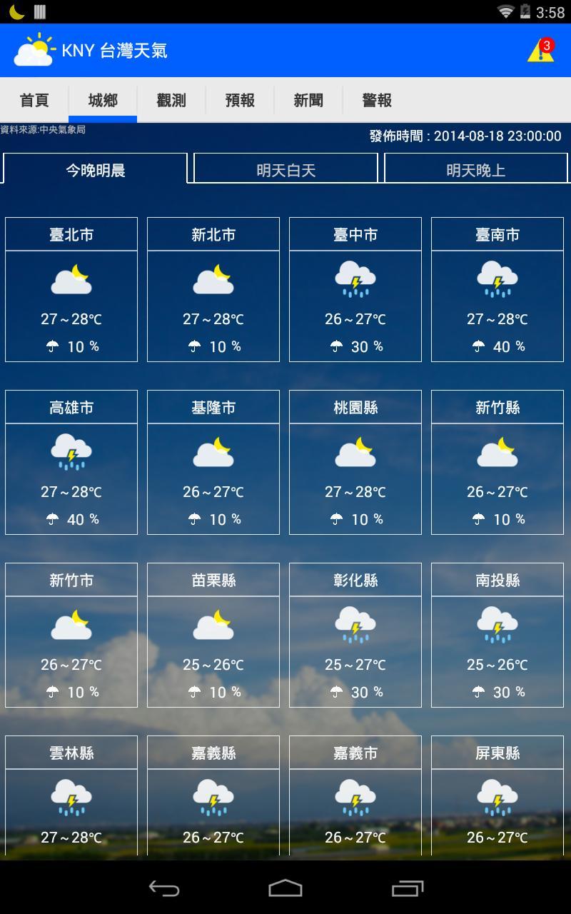 KNY台灣天氣.地震速報 screenshot 8
