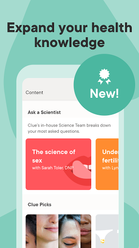 Clue Period Tracker, Cycle & Ovulation Calendar 2 تصوير الشاشة