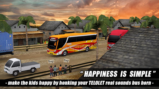 Telolet Bus Driving 3D screenshot 8