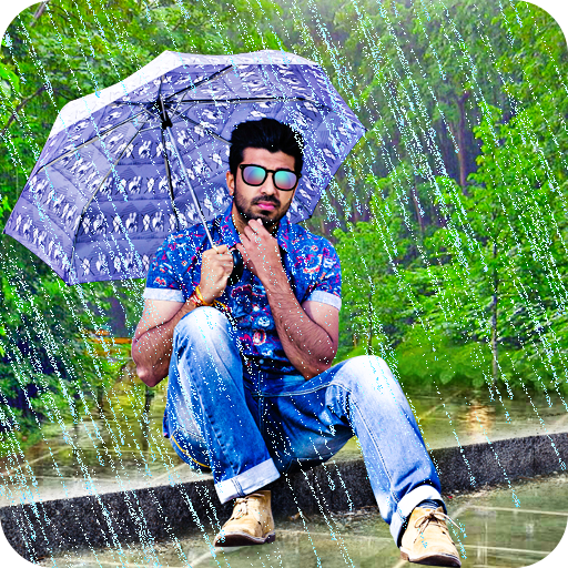 Rain Photo Editor and Frames أيقونة