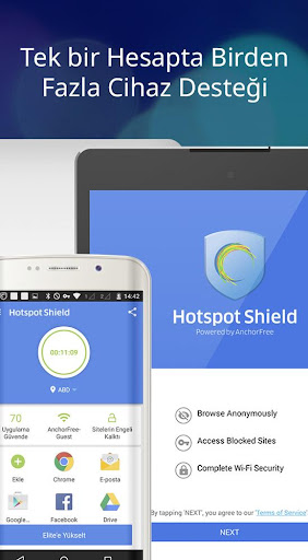 Hotspot Shield Ücretsiz VPN vekil & WiFi Güvenliği screenshot 10