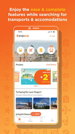 Pegipegi - Buy Hotel, Flight, Train & Bus Ticket 1 تصوير الشاشة