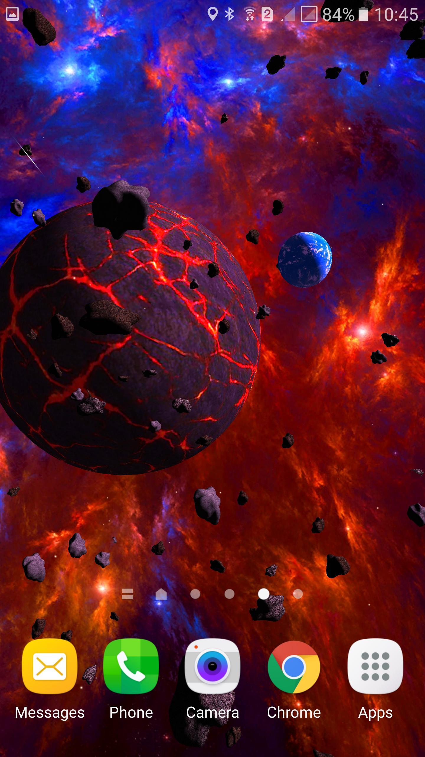 Asteroids 3D live wallpaper 6 تصوير الشاشة