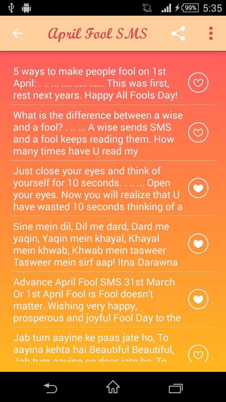April Fool SMS screenshot 3