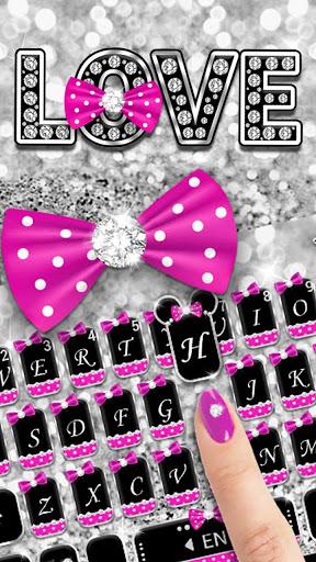 Twinkle Minny Bowknot Keyboard Theme screenshot 2