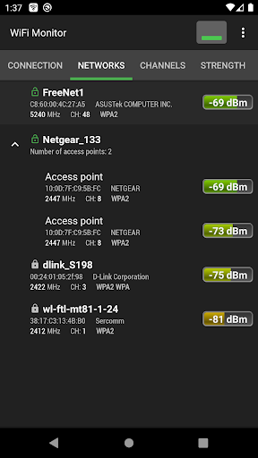 WiFi Monitor: analyzer of WiFi networks screenshot 3