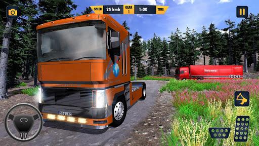 American Truck Cargo Car Transporter Driving screenshot 3
