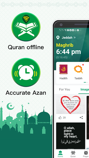 Muslim Prayer Times, Azan, Quran&Qibla By Vmuslim screenshot 1