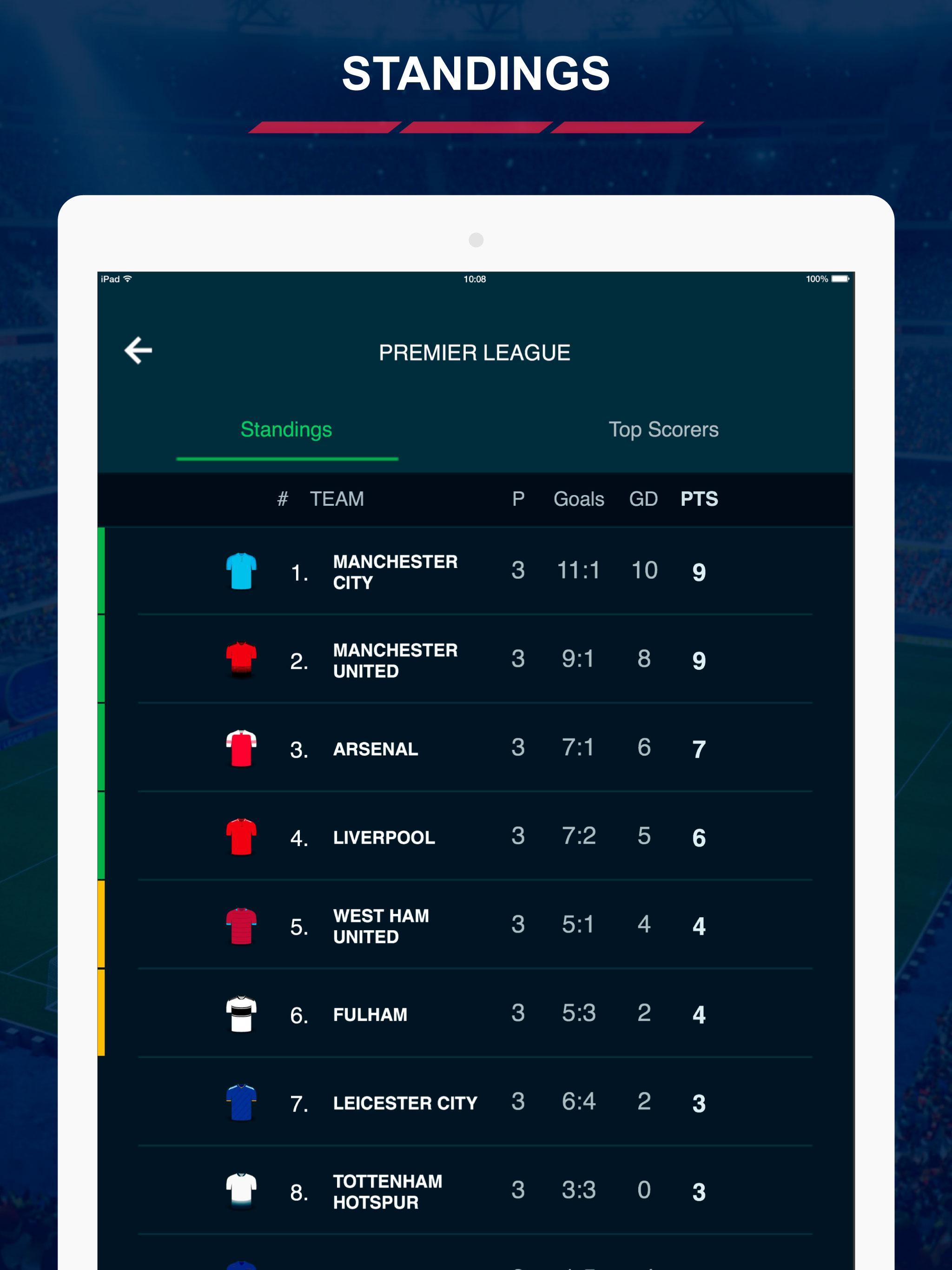 English Football Scores 8 تصوير الشاشة