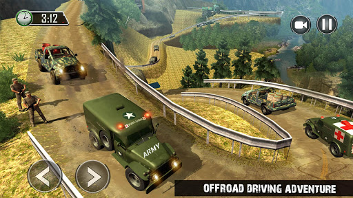 US Army Ambulance Driving Game : Transport Games 1 تصوير الشاشة