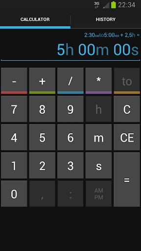 Time Calc screenshot 3
