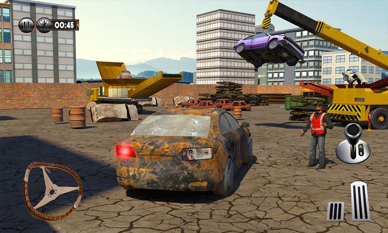 Monster Car Crusher Crane 2019: City Garbage Truck screenshot 2