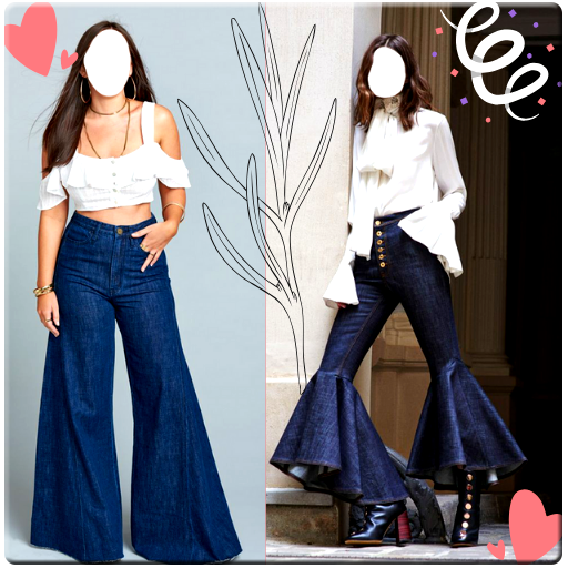 Girls Jeans Photo Suit icon