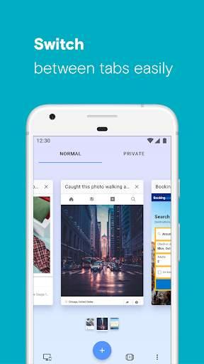 Opera browser with free VPN screenshot 8