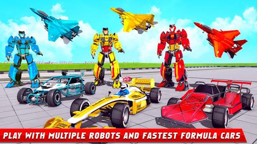 Formula Car Robot Games - Air Jet Robot Transform screenshot 9