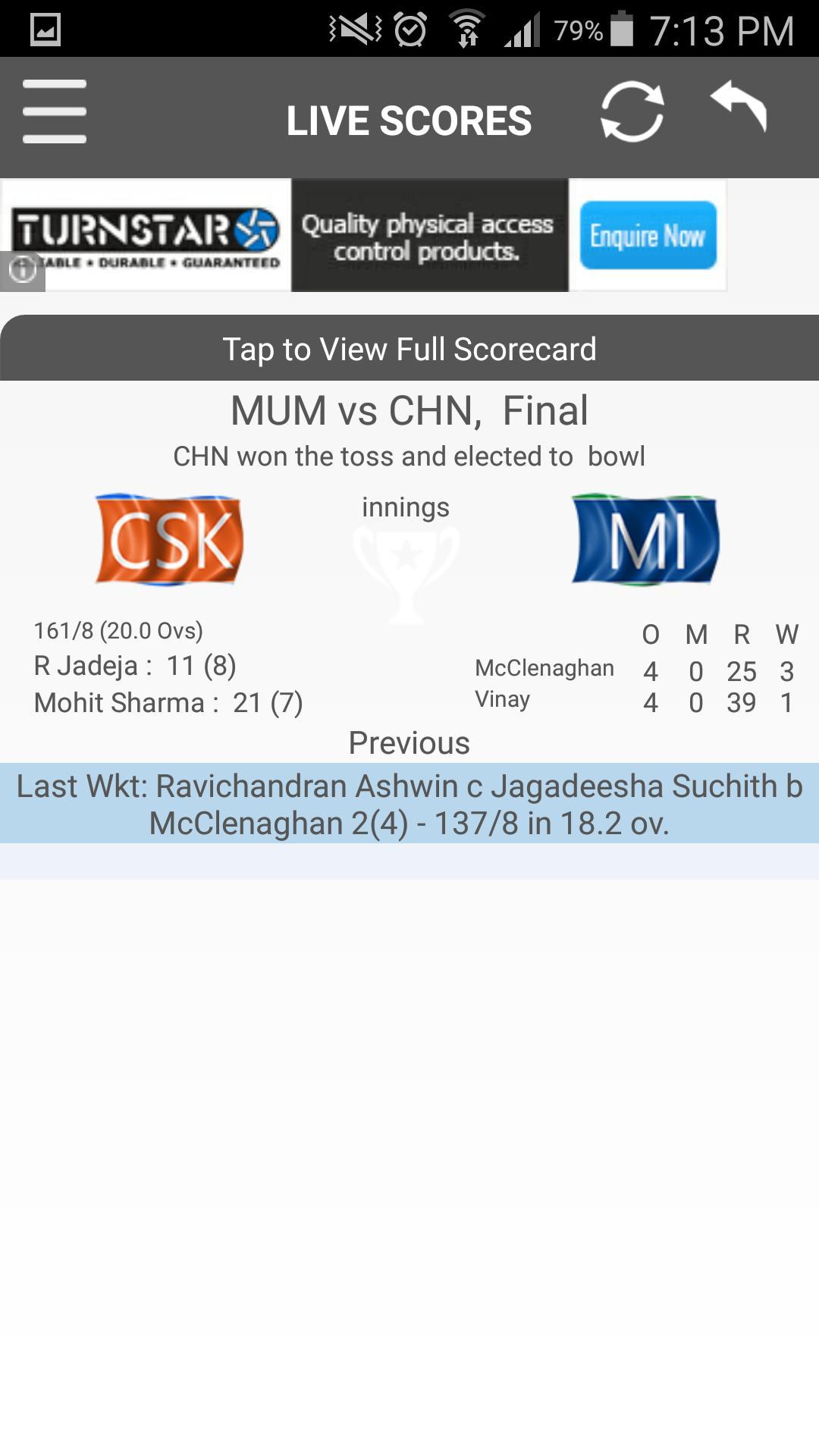 CricExtra - Live Cricket 2015 screenshot 1