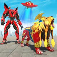 Lion Robot Transform War : Space Robot Games on 9Apps
